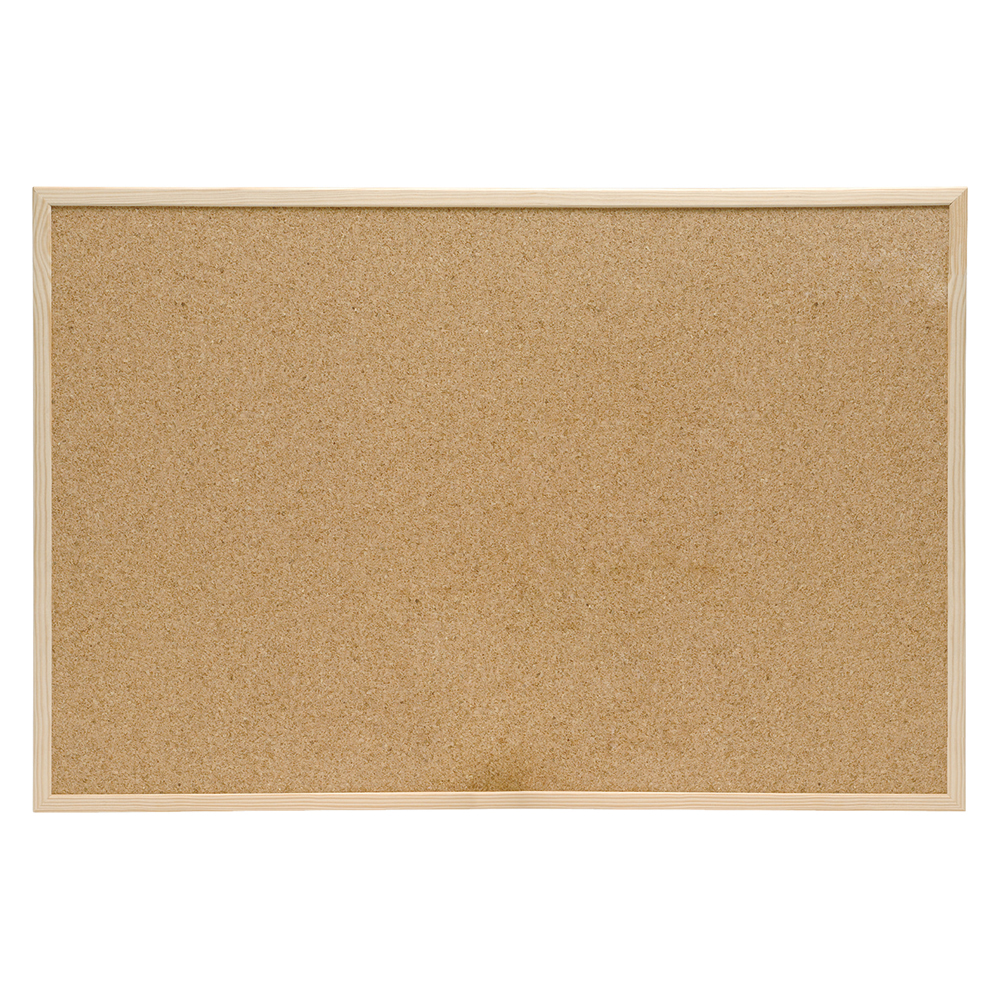 Business Eco Noticeboard Cork with Pine Frame W1200xH900mm