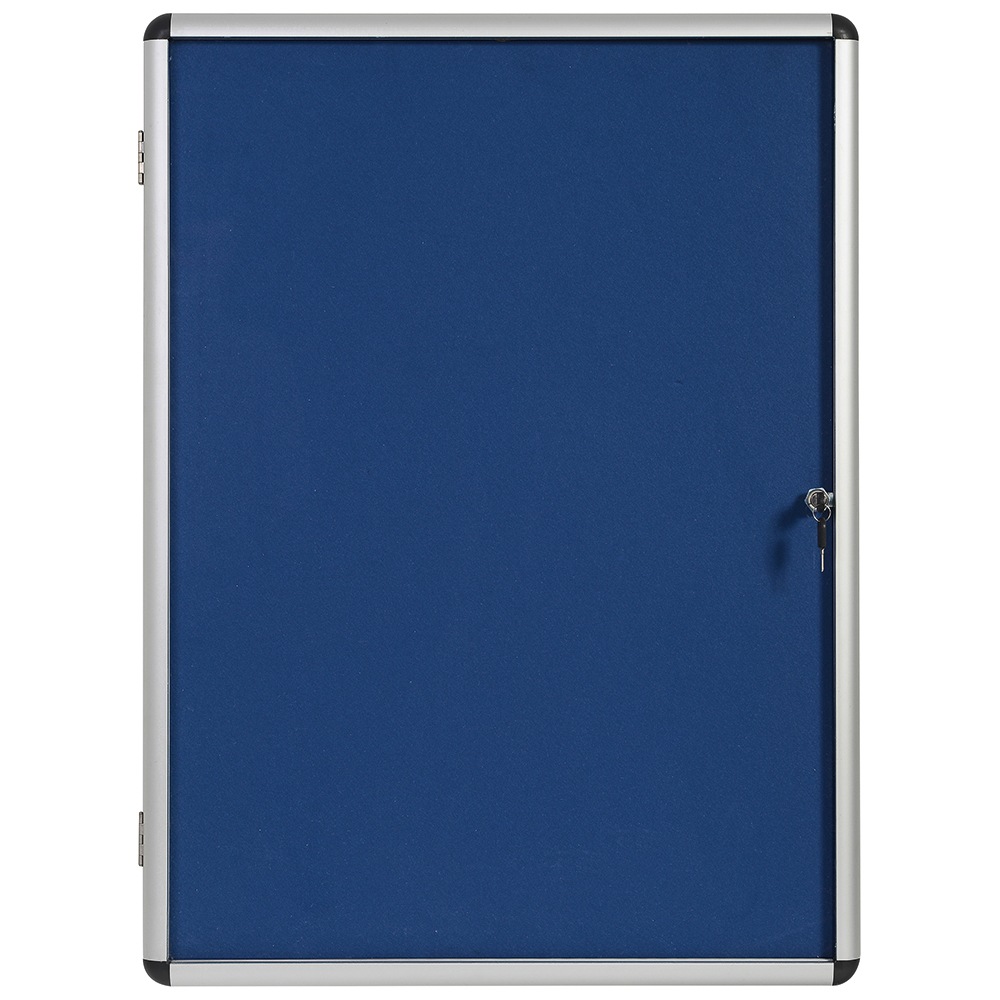 Business Blue 1200x900mm Lockable Glazed Noticeboard