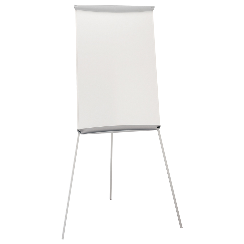 Business Office Flipchart Easel with W670xH990mm Board W700xD82xH1900mm Grey Trim