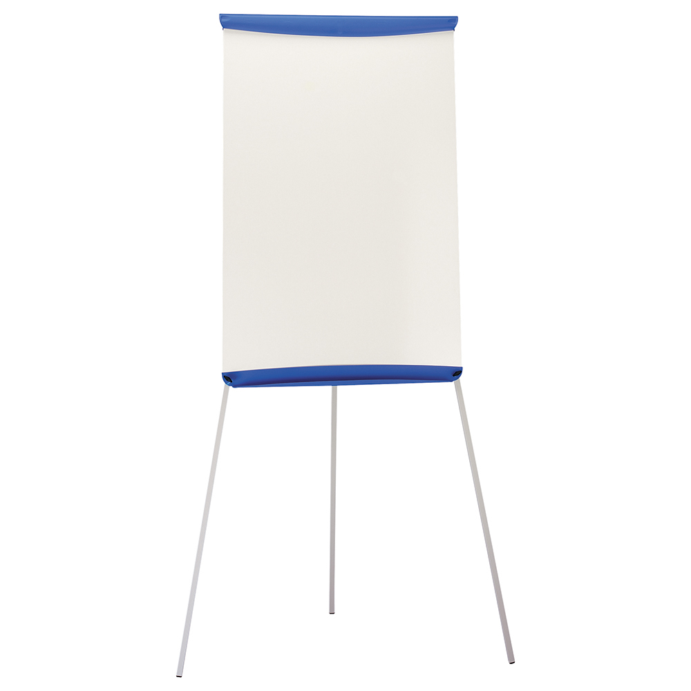 Business Office Flipchart Easel with W670xH990mm Board W700xD82xH1900mm Blue Trim