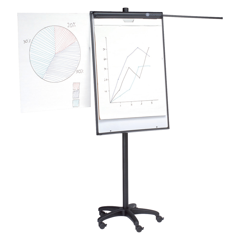 Business Office Mobile Executive Easel Magnetic Mobile on 5 Castors for Pads A1 and Euro
