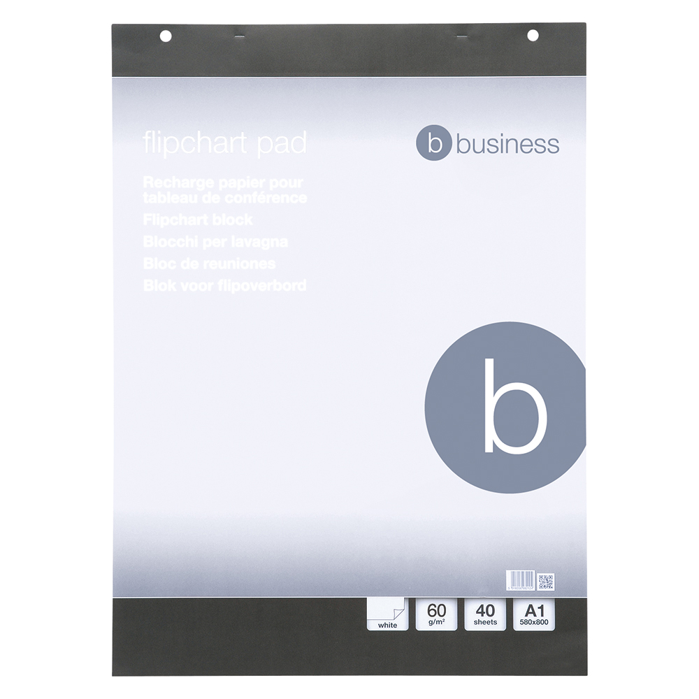 Business Office Flipchart Pad Perforated 40 Sheets A1 Pack 5