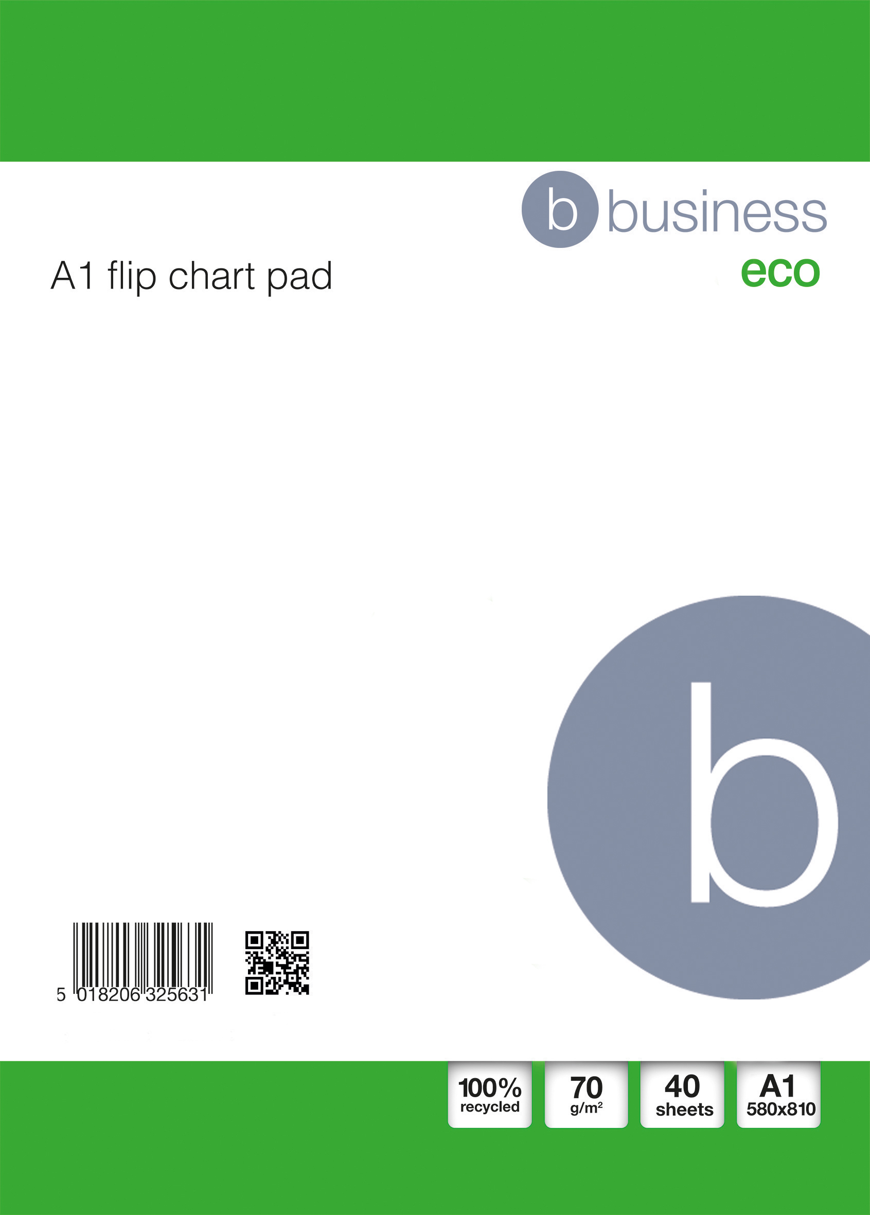 Business Eco Recycled Flipchart Pad Perforated 40 Sheets A1 White Pack 5