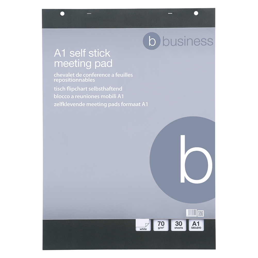 Business Office Flipchart Pad Self-adhesive 30 Sheets A1 Pack 2