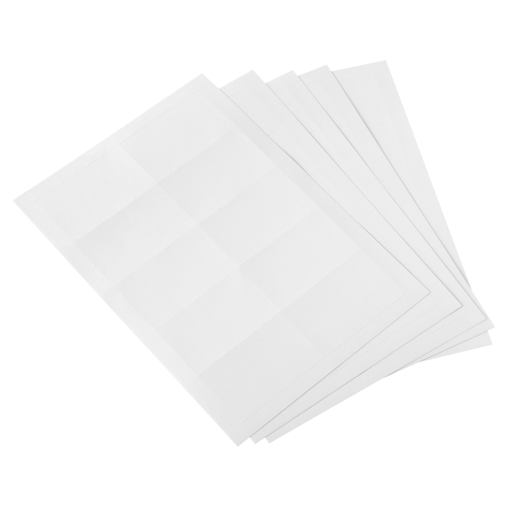 Business Name Badge Inserts Card 54 x 90mm White (Pack of 200)