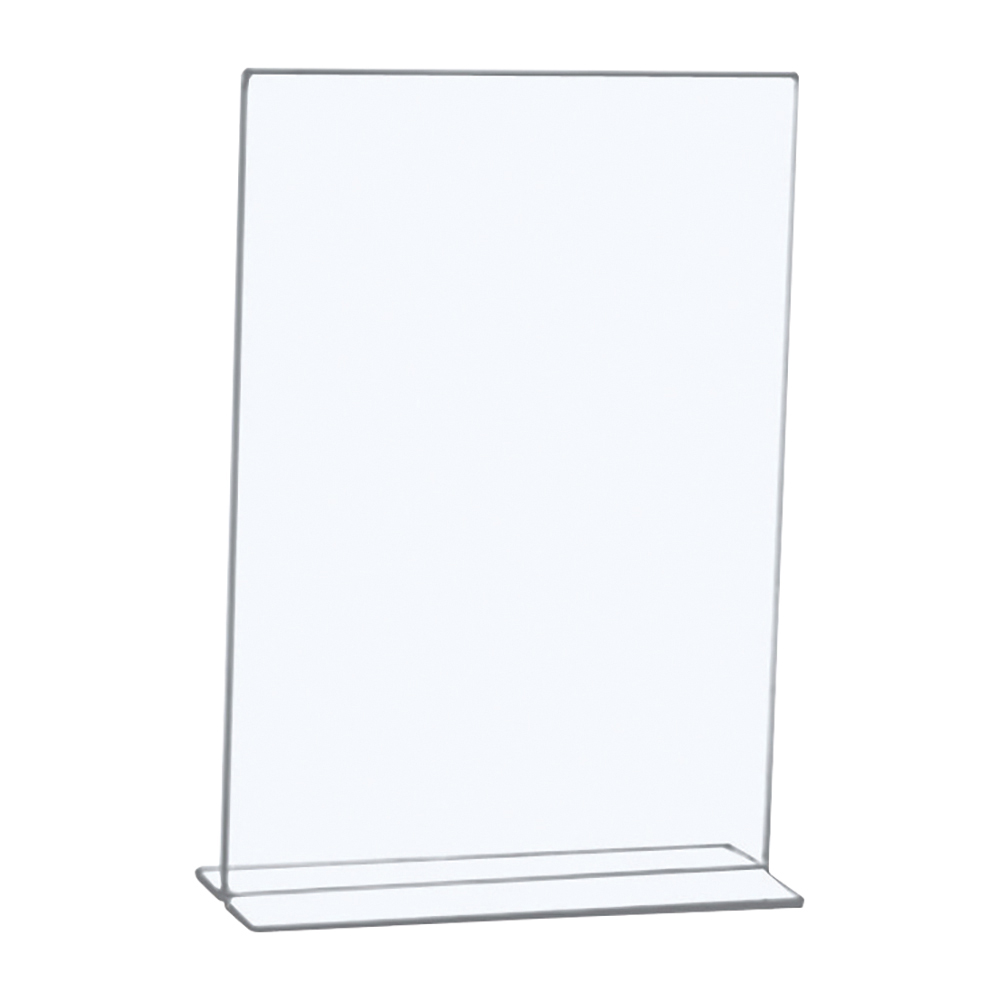 Business Stand Up Sign Holder Portrait A4 Clear (Pack of 1)