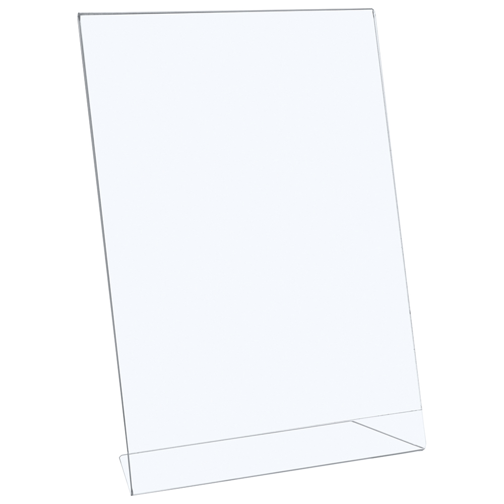 Business Slanted Sign Holder Portrait A4 Clear (Pack of 1)