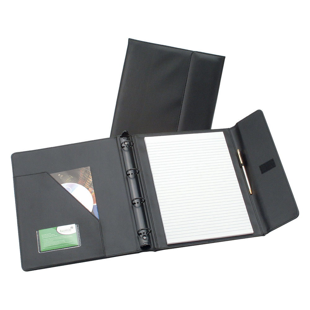 Business Elite Executive Conference Ring Binder with Hook and Loop Closure Capacity 50mm A4 Black