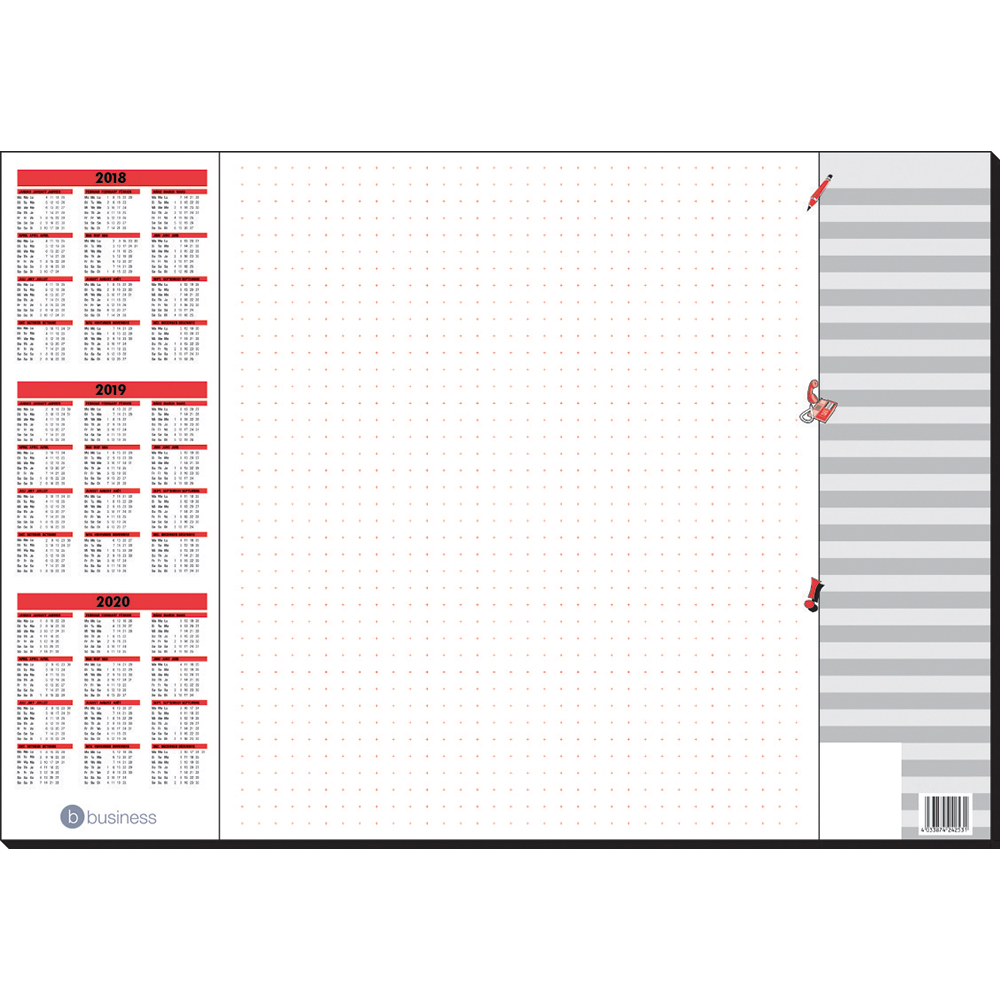 Business Desk Pad 80gsm 30 Sheets 590x410mm White (Pack of 1)