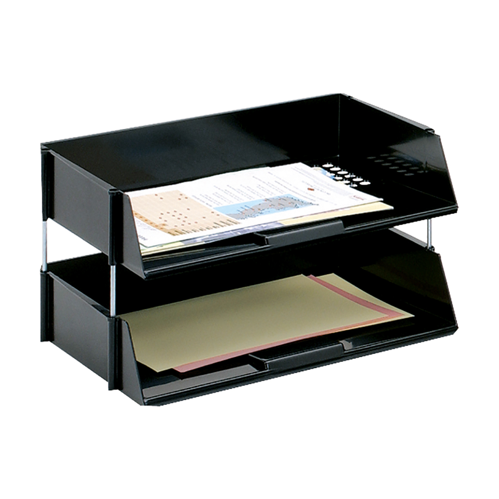 Business Letter Tray Wide Entry High-impact Polystyrene Black (Pack of 1)