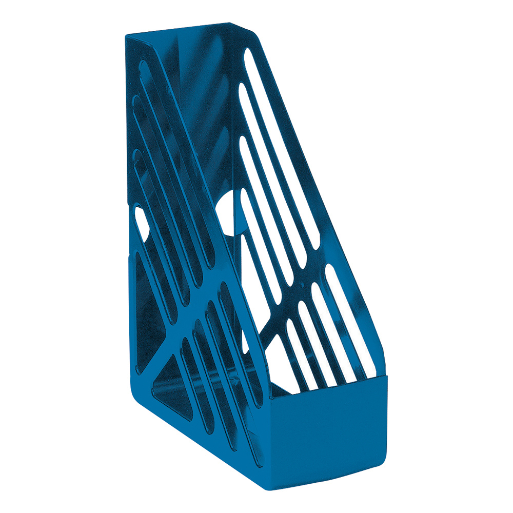 Business Magazine Rack File High-impact Polystyrene Foolscap Blue (Pack of 1)