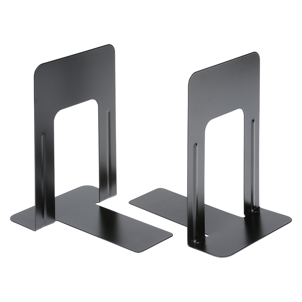 Business Metal Bookends Heavy Duty 180mm Black (Pack of 2)