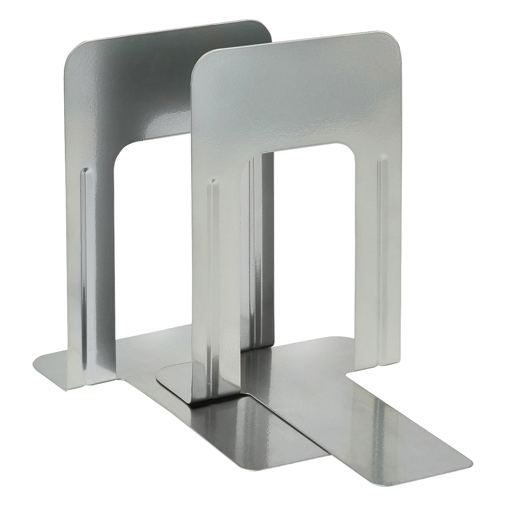 Business Metal Bookends 250mm Silver (Pack of 2)