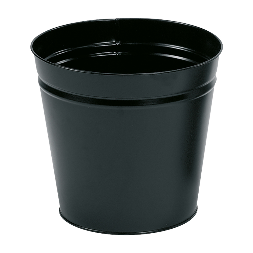 Business Waste Bin Round Metal 15 Litres Black (Pack of 1)