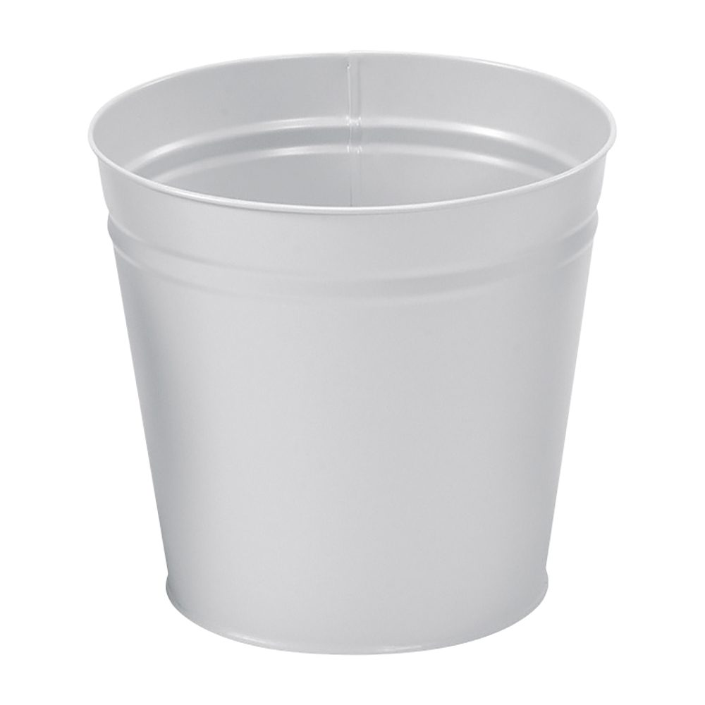 Business Waste Bin Round Metal 15 Litres Grey (Pack of 1)