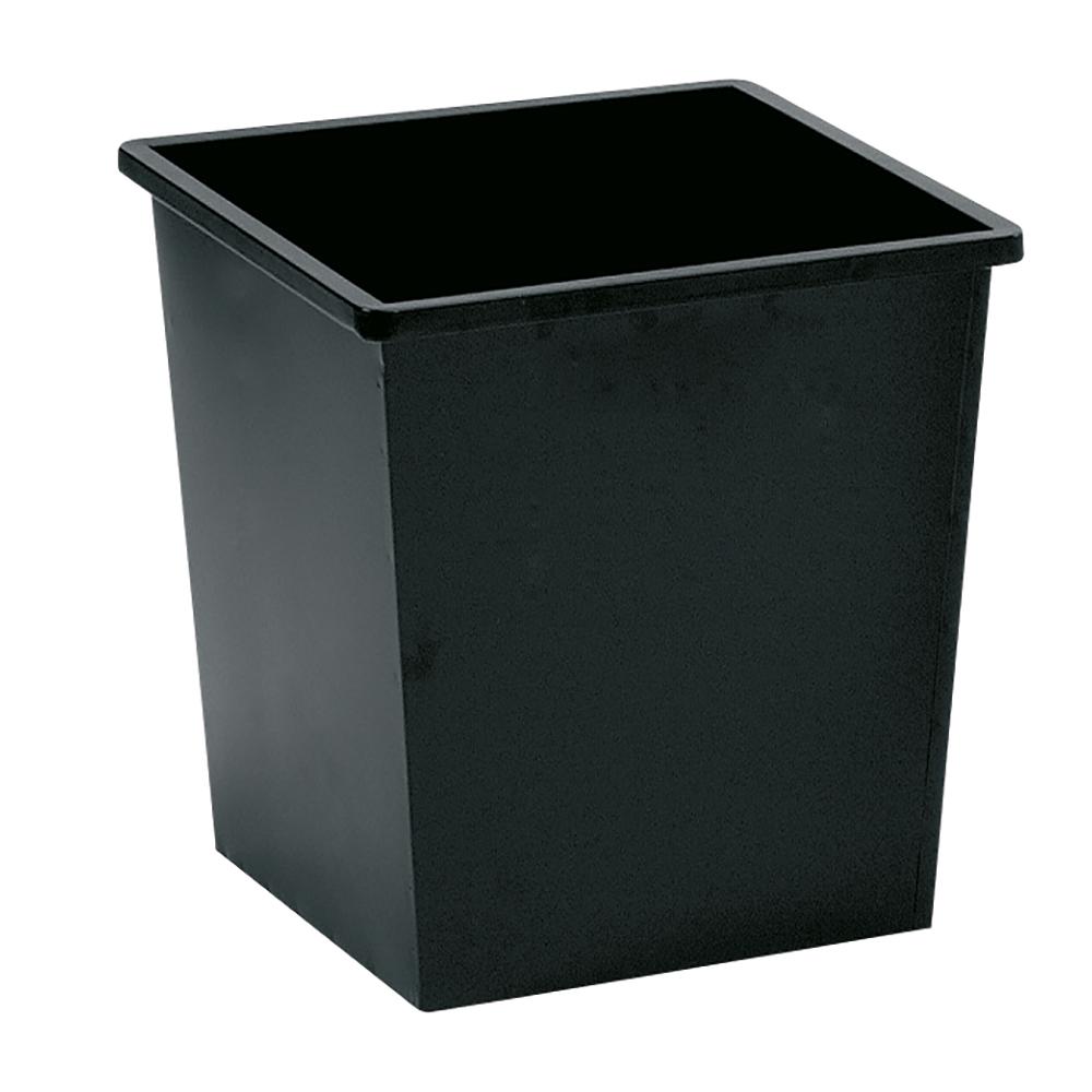 Business Waste Bin Square Metal 27 Litres Black (Pack of 1)