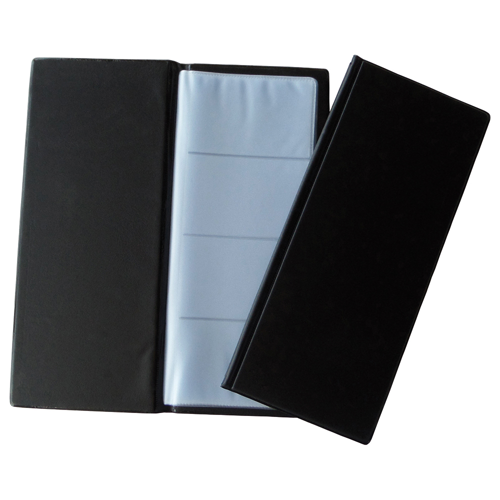 Business Standard Business Card Book PVC 128 Cards Black (Pack of 1)