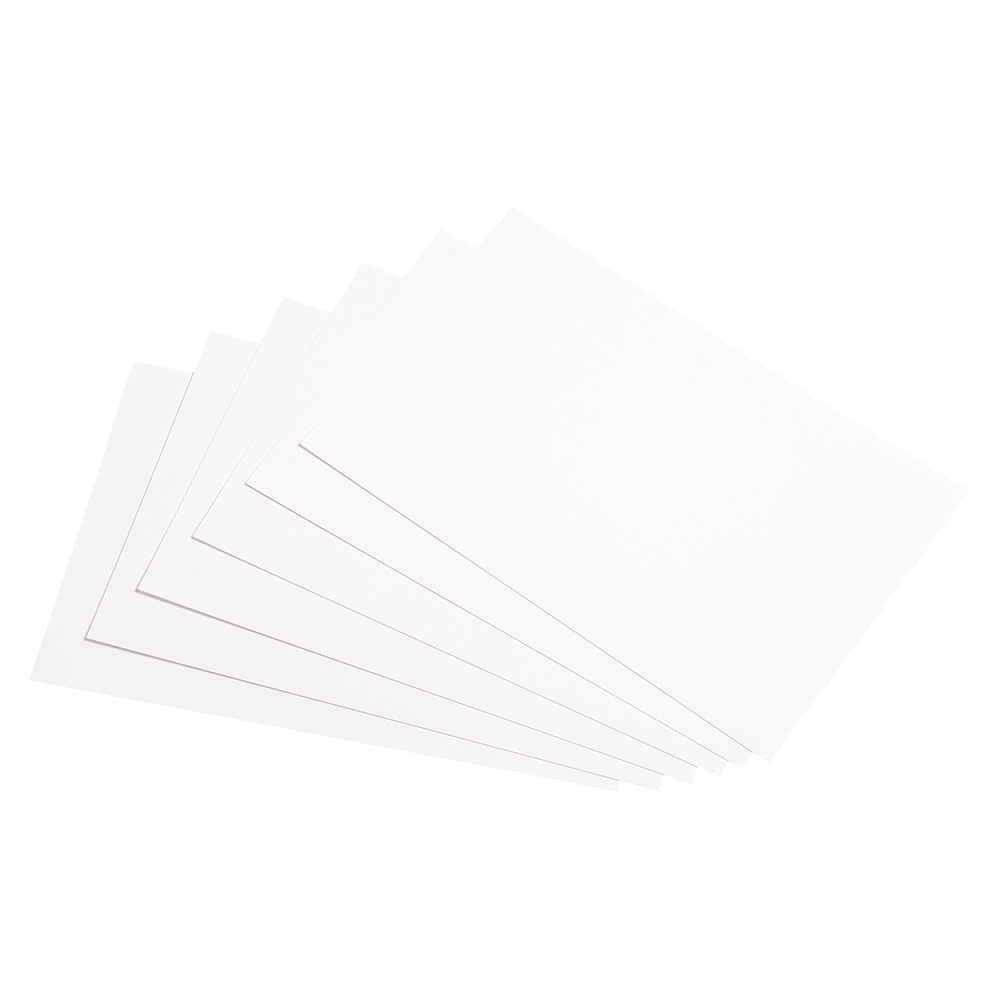 Business Record Cards Plain 203 x 127mm White (Pack of 100)