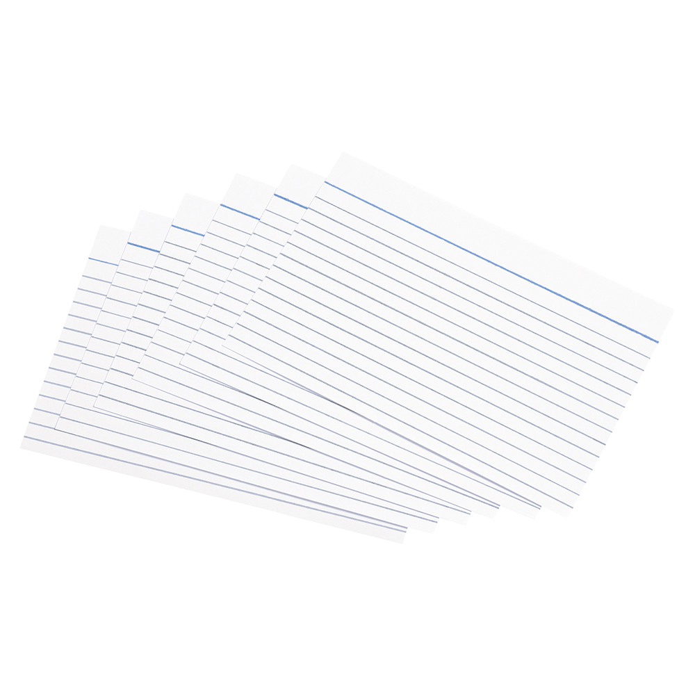 Business Record Cards Ruled Both Sides 152 x 102mm White (Pack of 100)