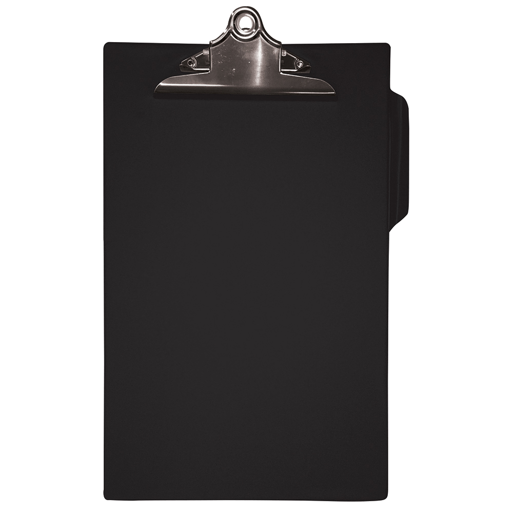 Business Heavy Duty Clipboard PVC Finish Foolscap Black (Pack of 1)