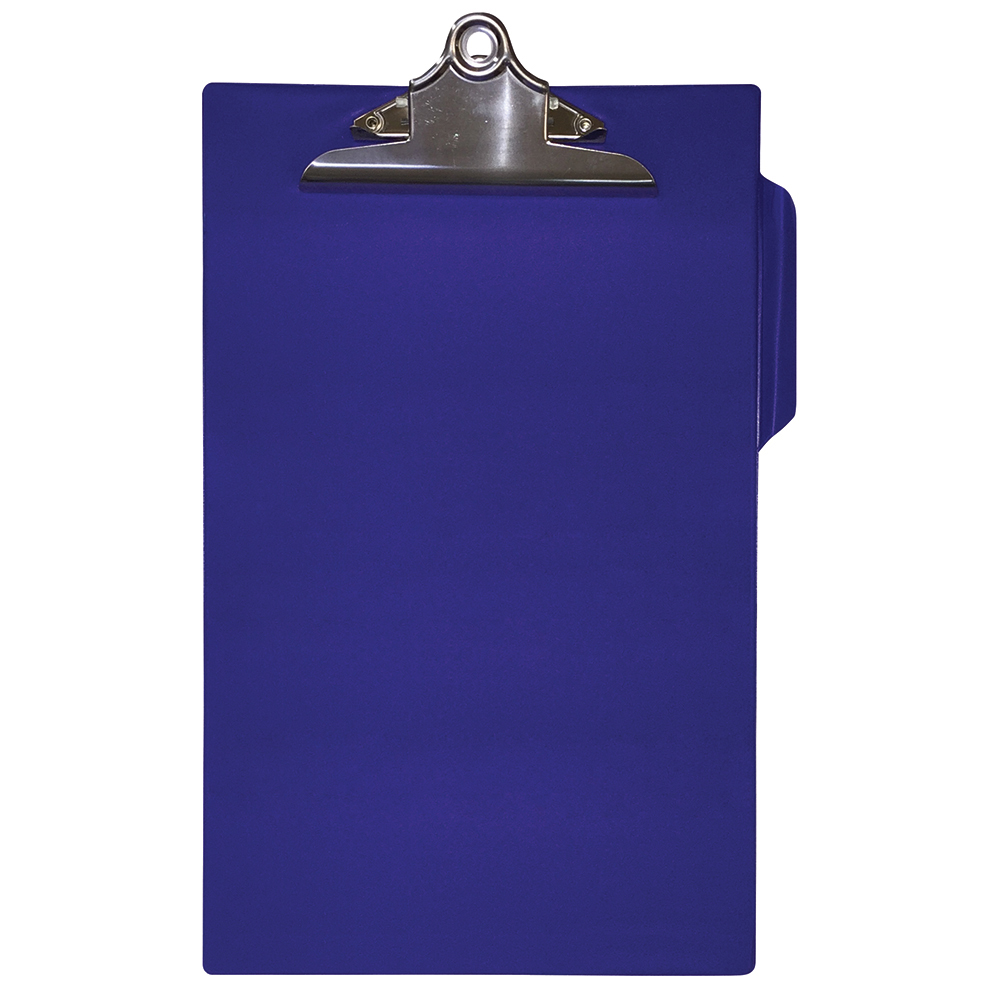 Business Heavy Duty Clipboard PVC Finish Foolscap Blue (Pack of 1)