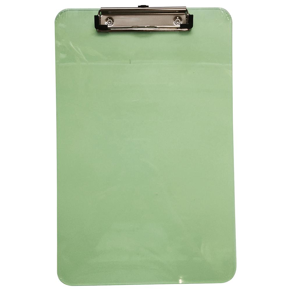 Business Shatterproof Clipboard Polypropylene Random Pink Green Turquoise (Pack of 1)
