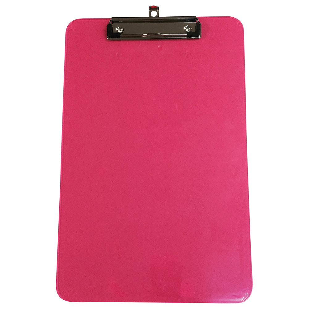 Business Office Clipboard Polypropylene Shatterproof Pink or Green or Turquoise