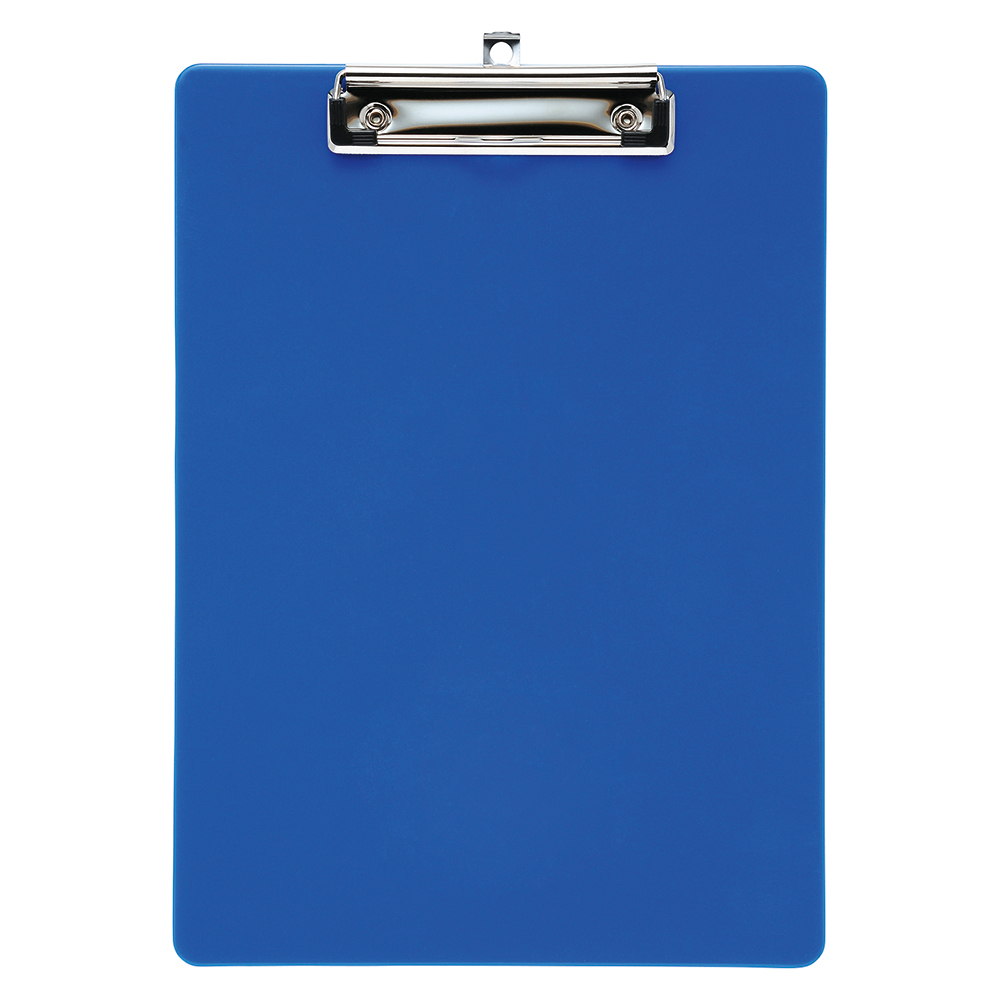 Business Office Clipboard Solid Plastic Durable with Rounded Corners A4 Blue