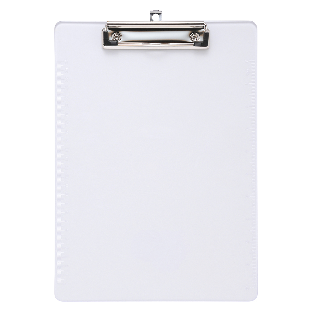 Business Solid Plastic Clipboard Durable with Rounded Corners A4 Clear (Pack of 1)