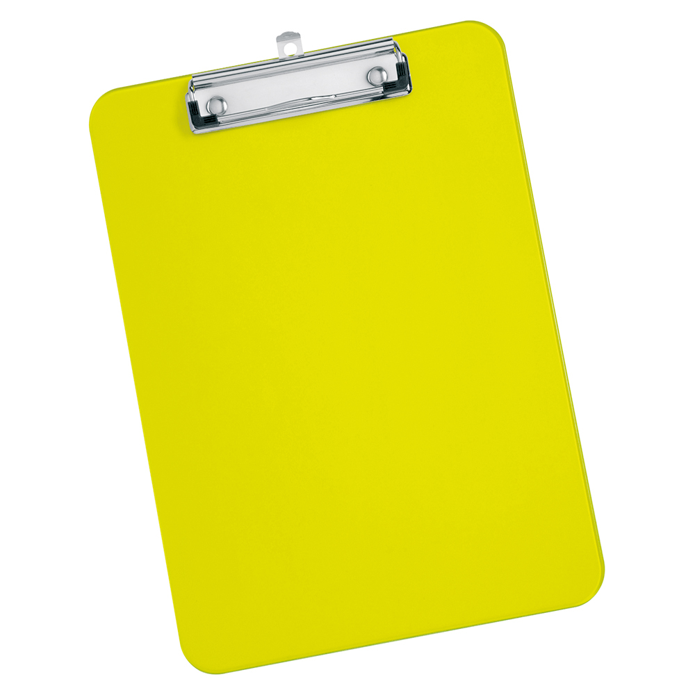 Business Solid Plastic Clipboard Durable with Rounded Corners A4 Green (Pack of 1)