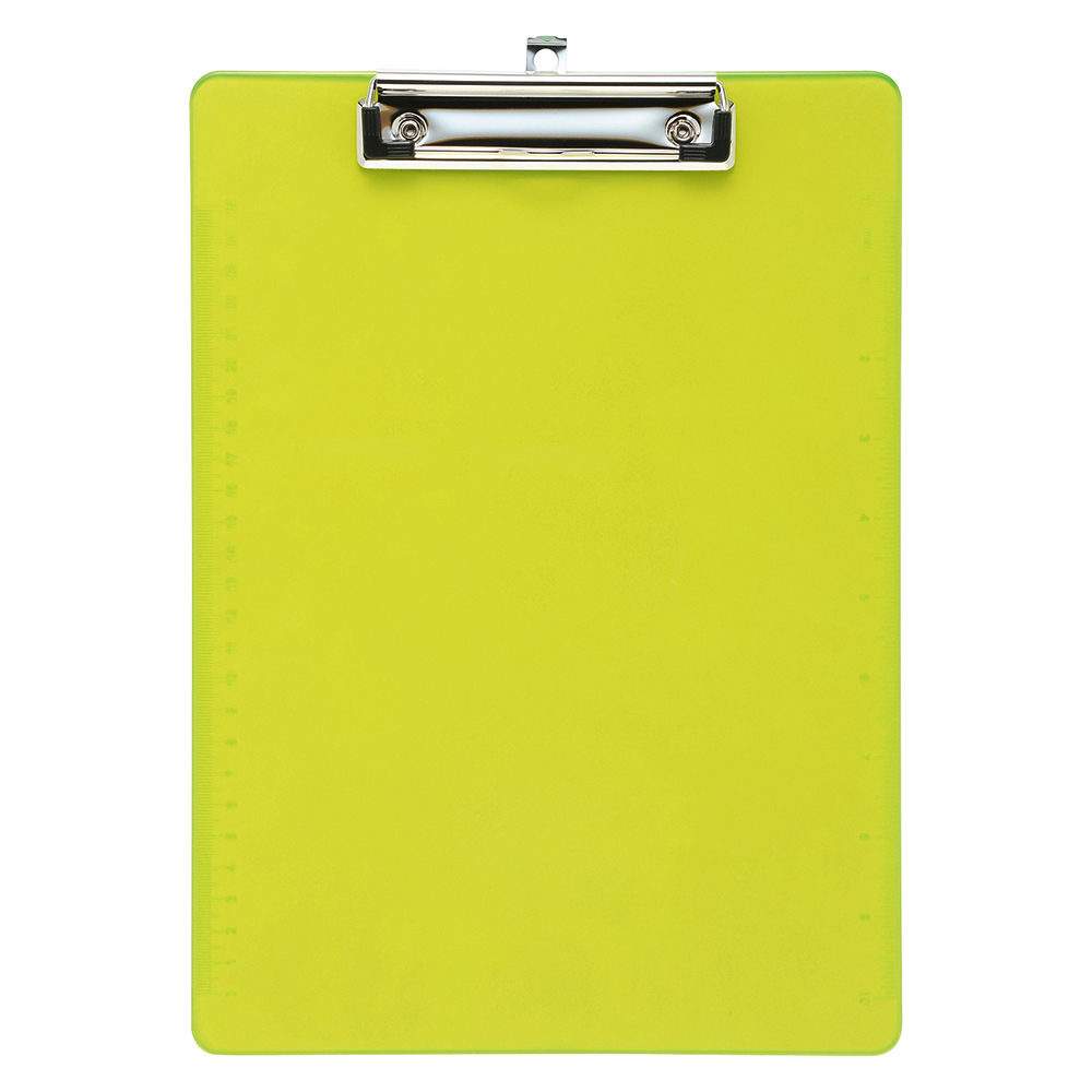 Business Office Clipboard Solid Plastic Durable with Rounded Corners A4 Lime Green