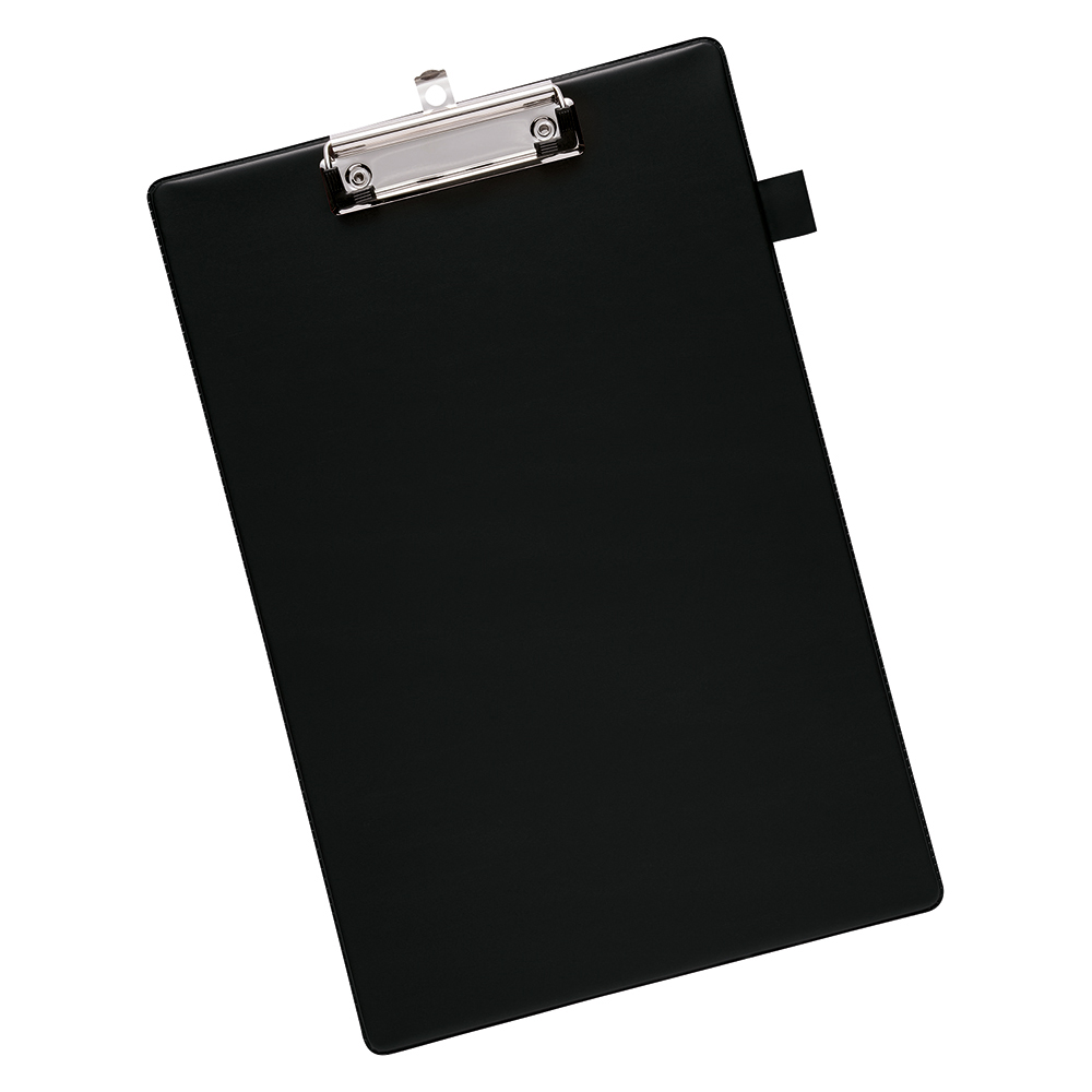 Business Office Standard Clipboard with PVC Cover Foolscap Black