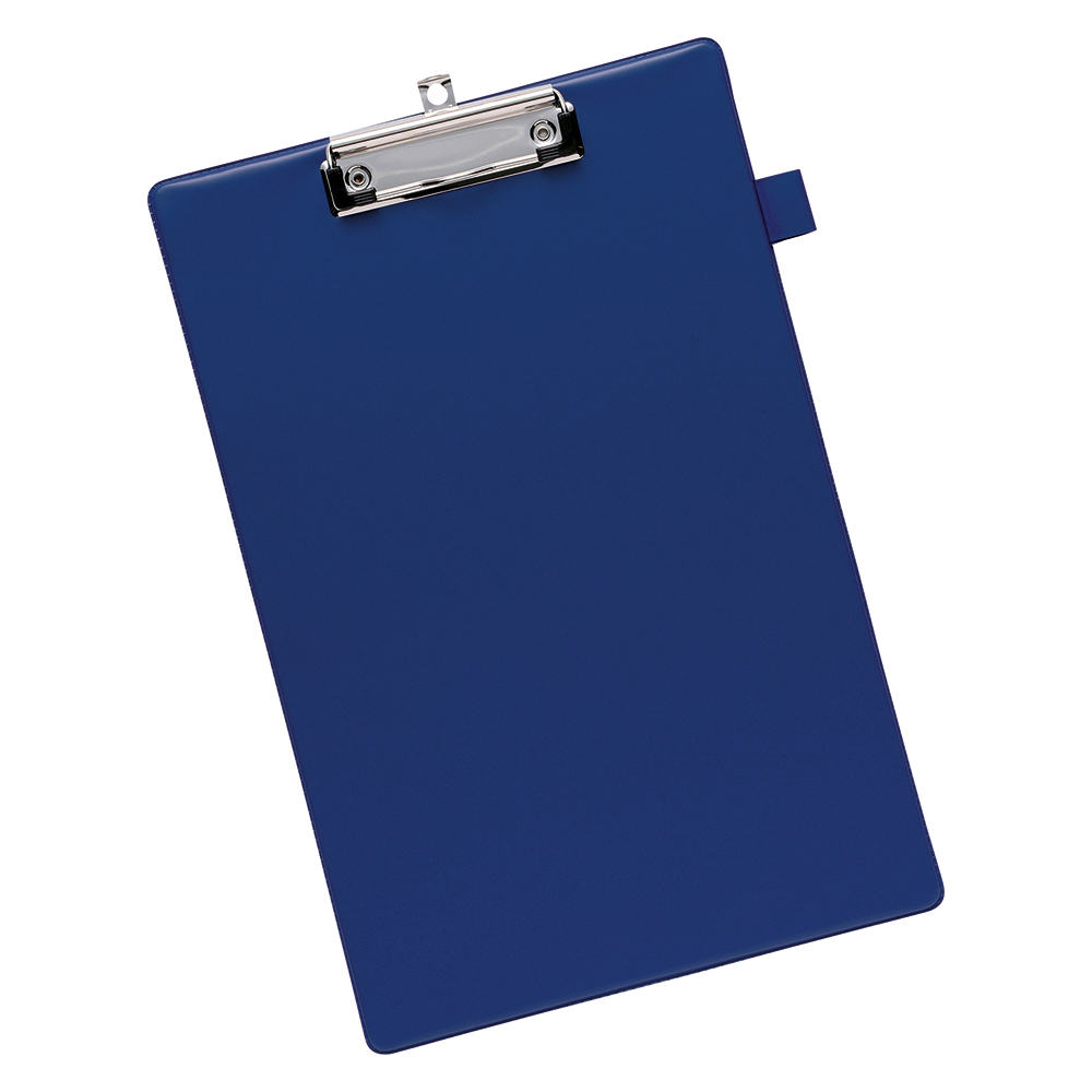 Business Office Standard Clipboard with PVC Cover Foolscap Blue