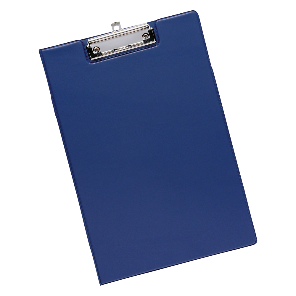 Business Fold Over Clipboard PVC Cover Foolscap Blue (Pack of 1)
