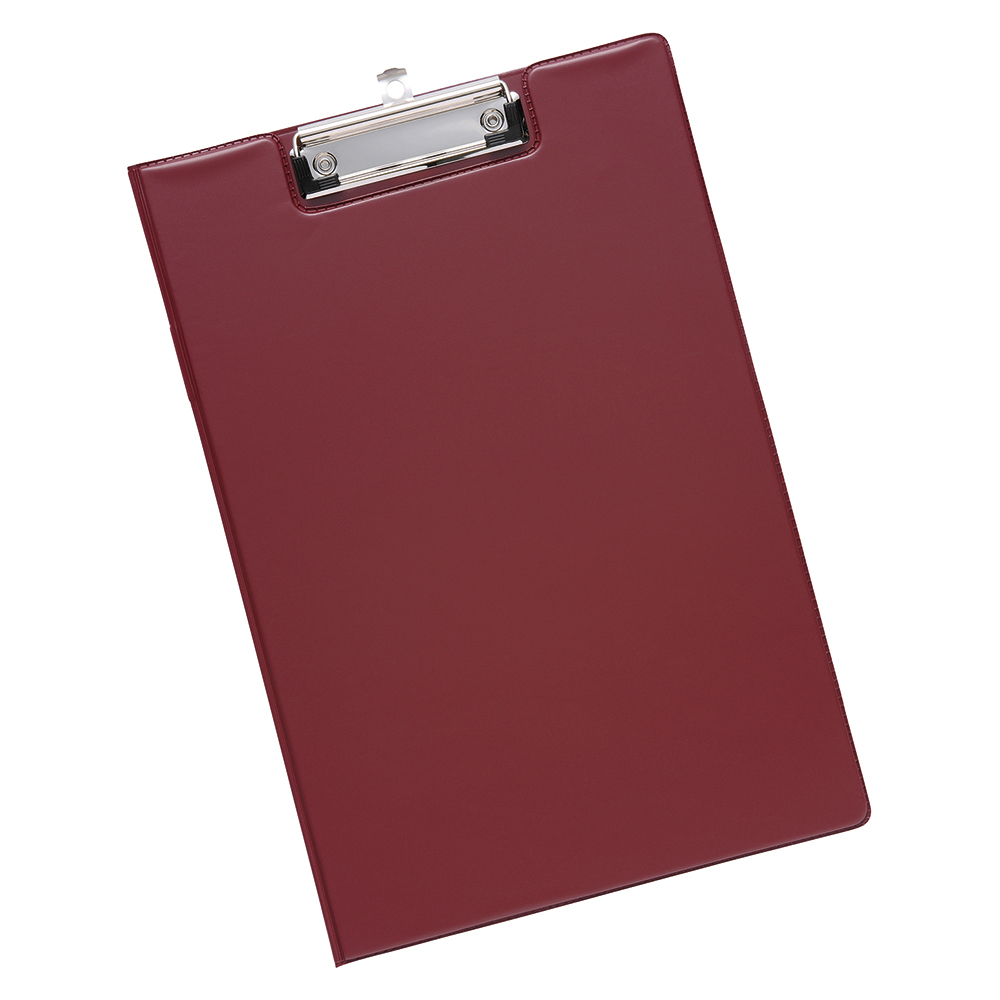 Business Fold Over Clipboard PVC Cover Foolscap Red (Pack of 1)