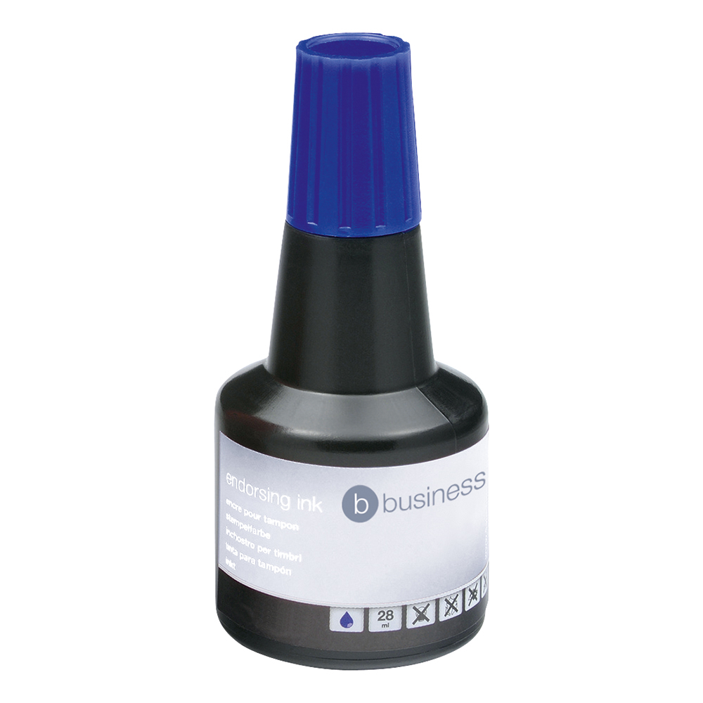 Business Office Endorsing Ink 28ml Blue