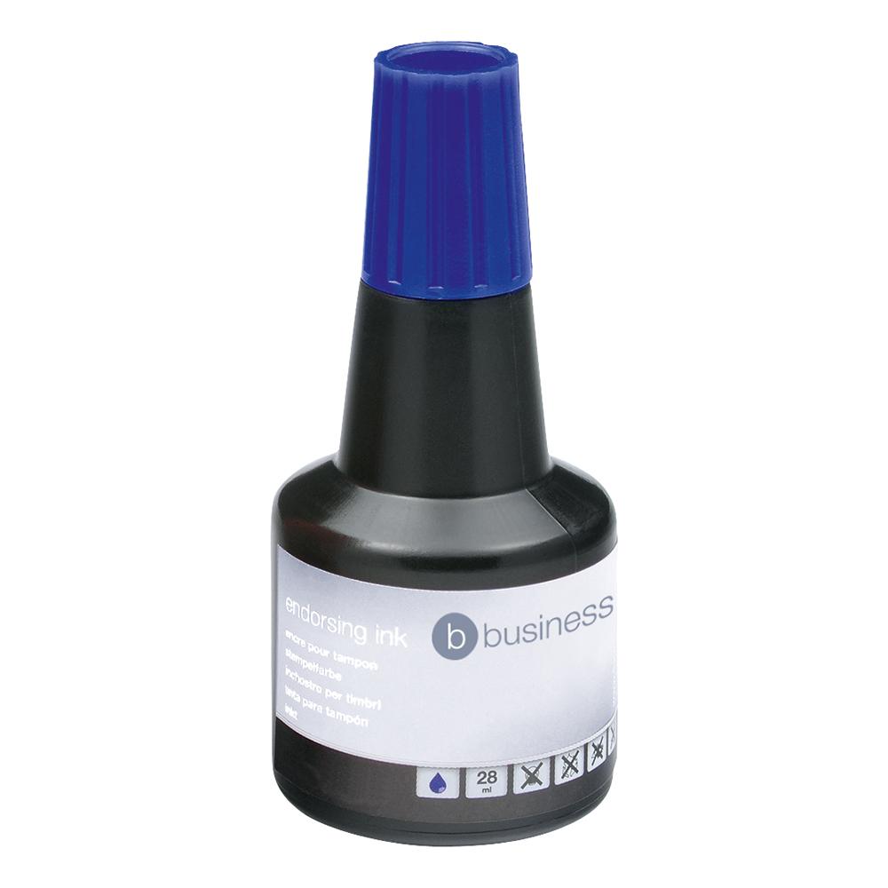 Business Endorsing Ink 28ml Bottle Blue (Pack of 1)