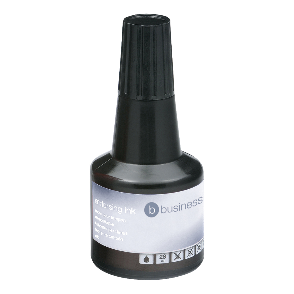 Business Office Endorsing Ink 28ml Black