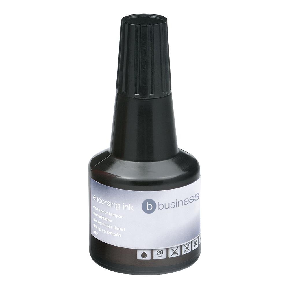 Business Endorsing Ink 28ml Bottle Black (Pack of 1)