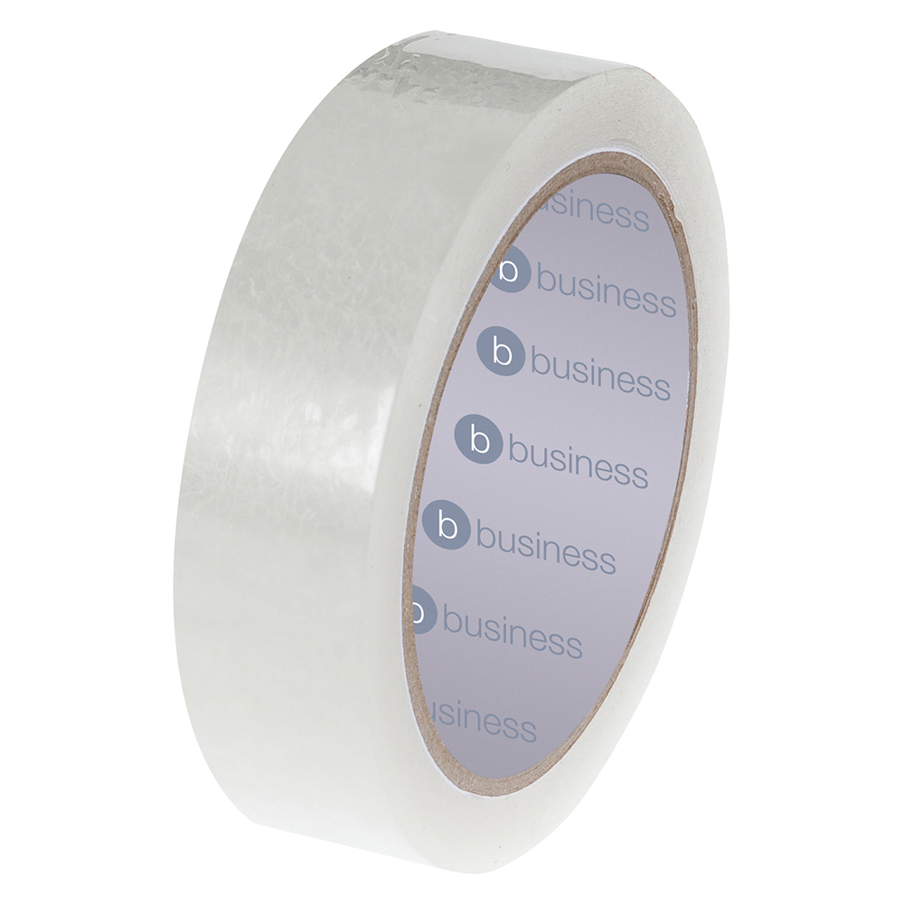 Business Easy-tear Tape Large Polypropylene 40 microns 25mm x 66m Clear (Pack of 6)