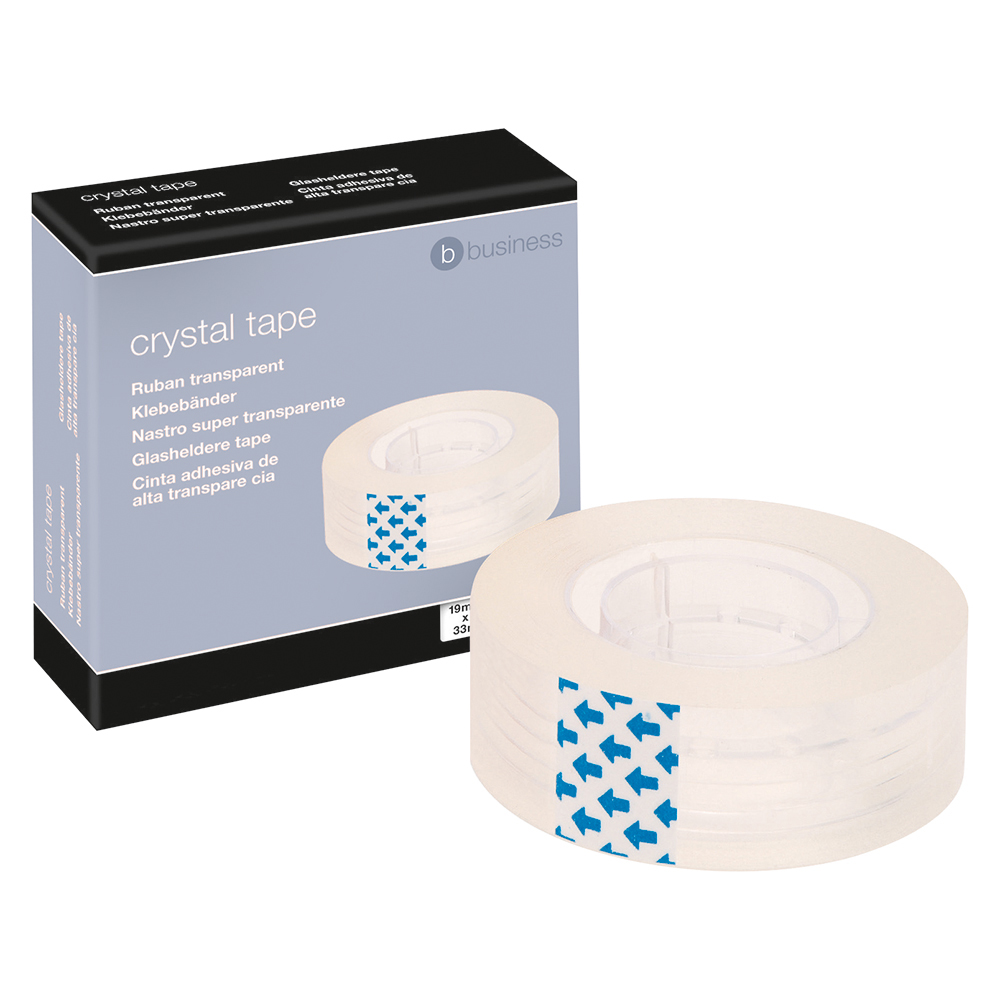 Business Easy-tear Crystal Tape 19mm x 33m (Pack of 1)