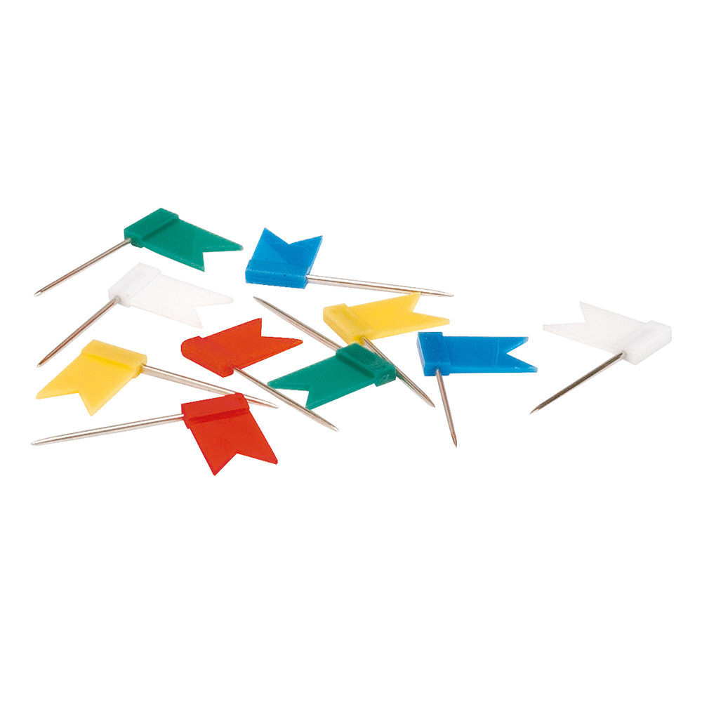 Business Marking Flag Pins Assorted (Pack of 100)