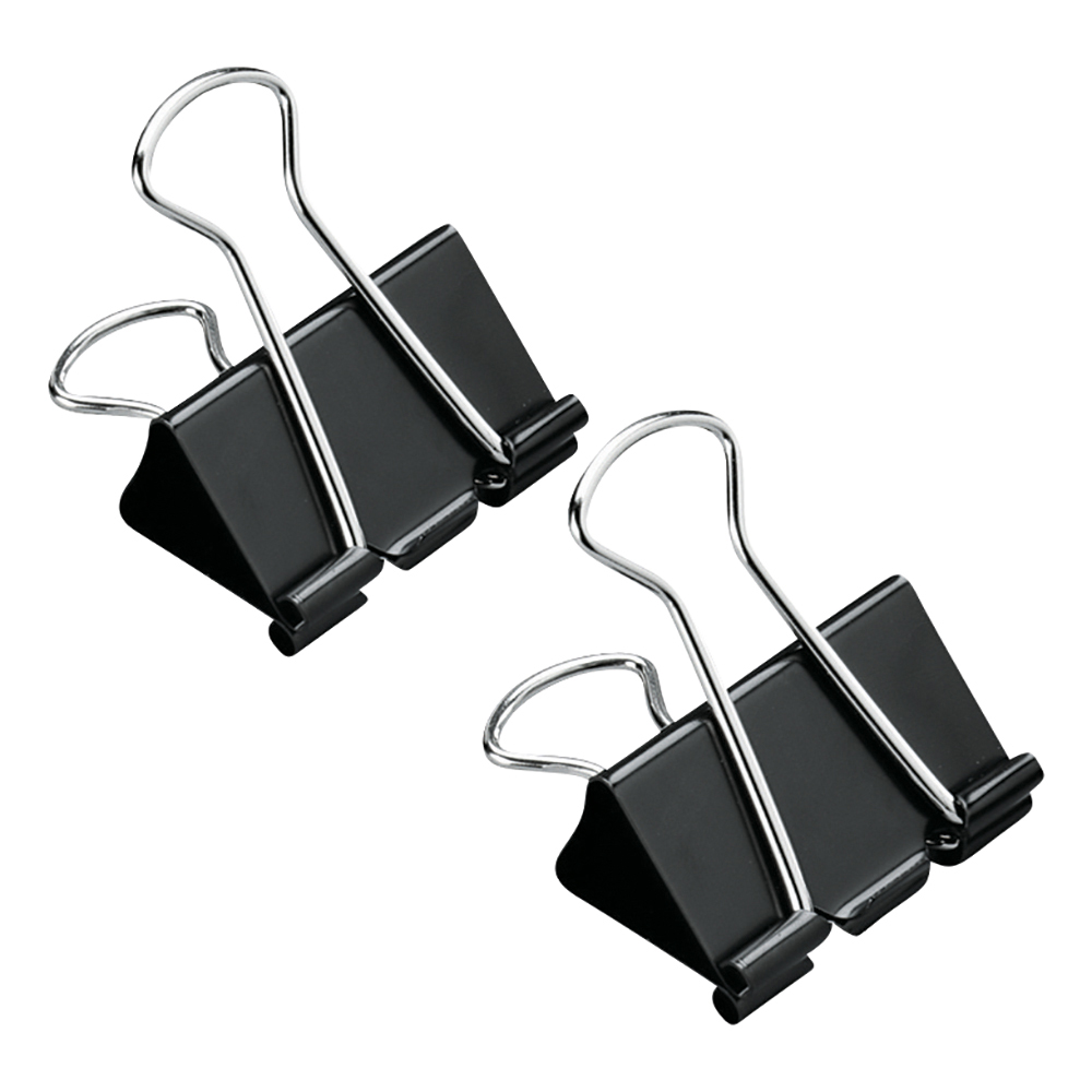 Business Foldback Clips 32mm Black (Pack of 12)