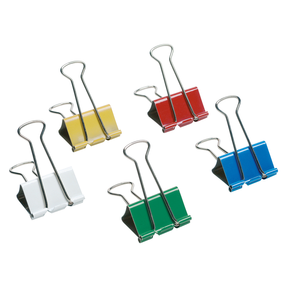 Business Foldback Clips 41mm Assorted (Pack of 12)