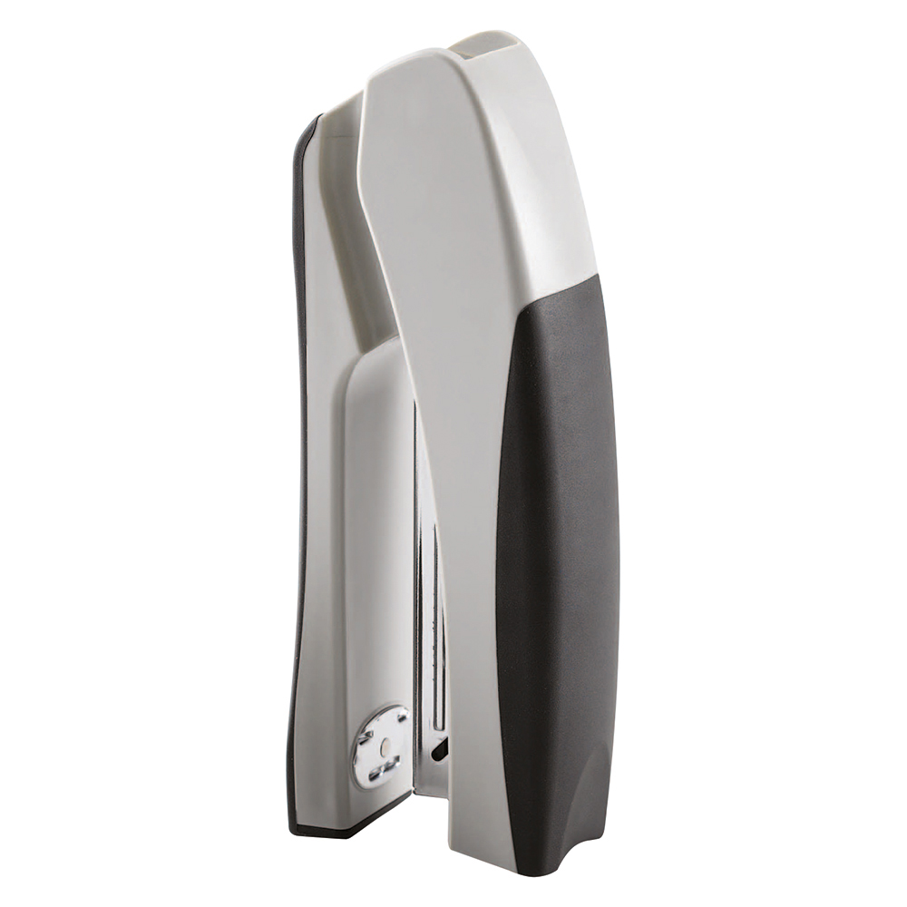 Business Stand Up Half Strip Stapler Capacity 20 Sheet Silver/Black (Pack of 1)