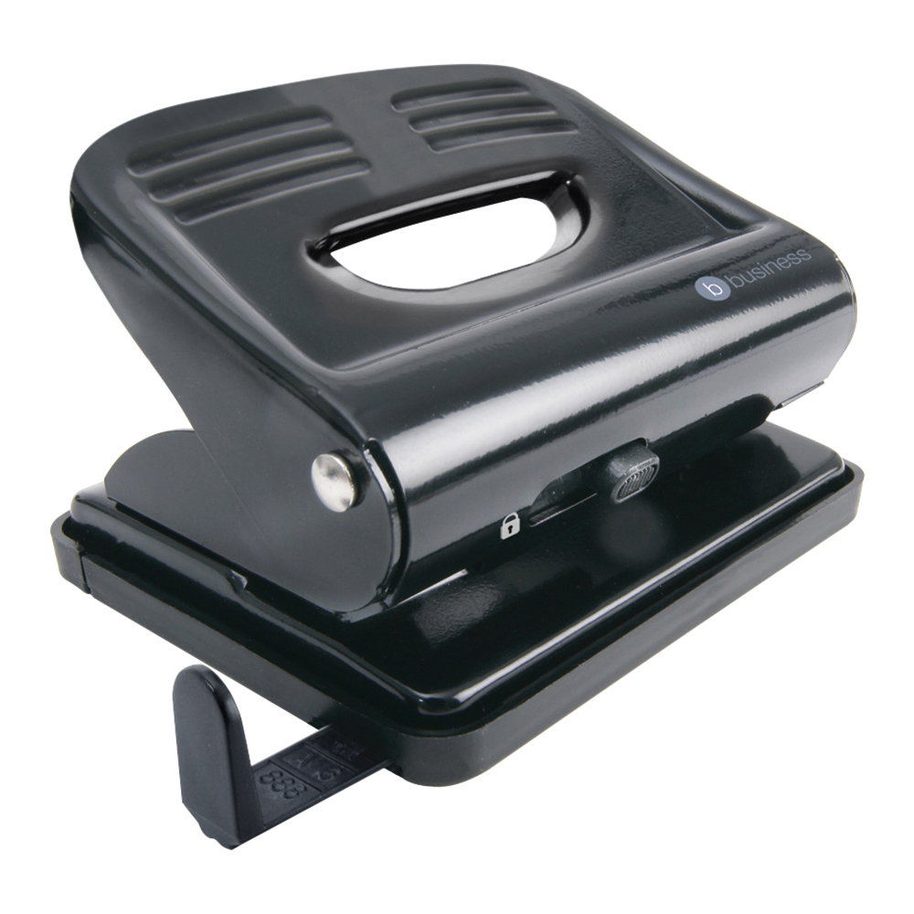 Business Hole Punch 2 Hole Capacity 18 Sheets Black (Pack of 1)