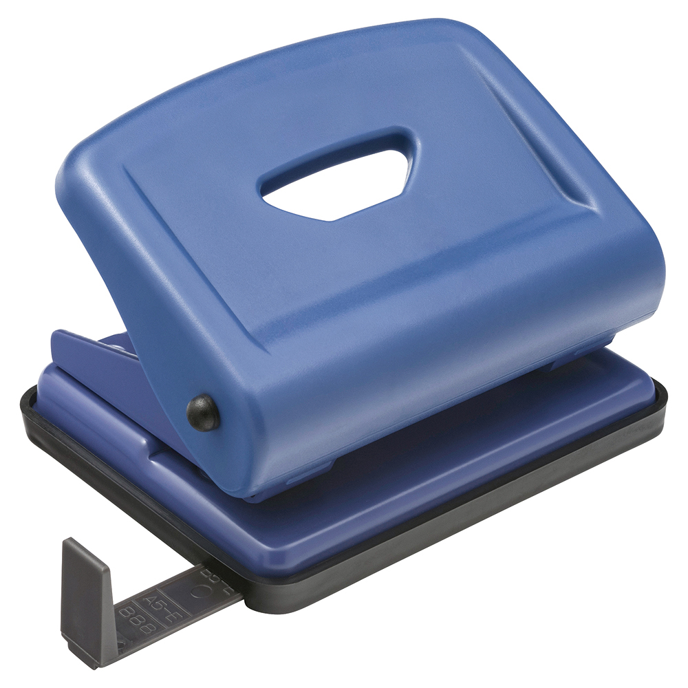 Business Hole Punch 2 Hole ABS/Metal Capacity 22 Sheets Blue (Pack of 1)