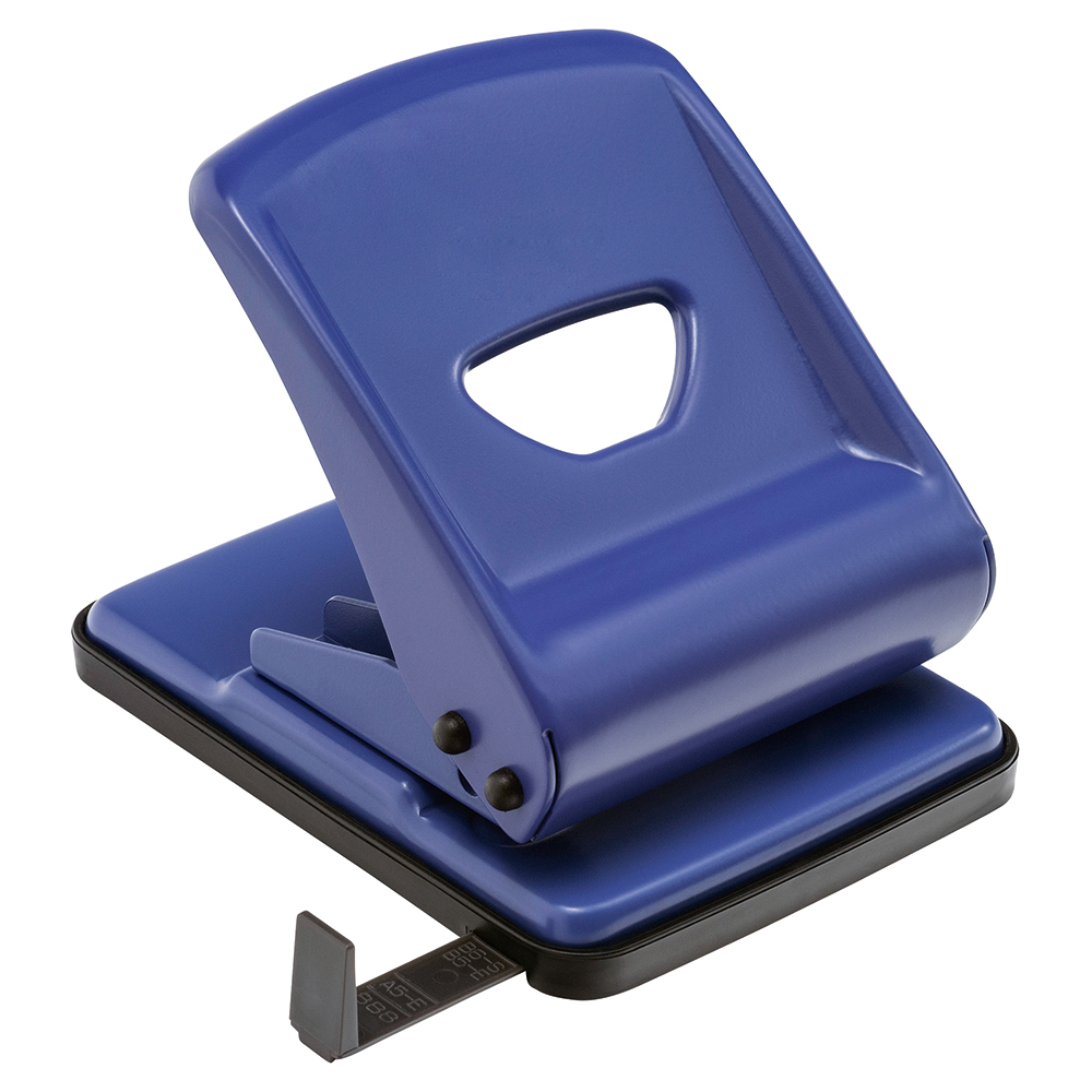 Business Hole Punch Metal 2 Hole Capacity 40 Sheets Blue (Pack of 1)
