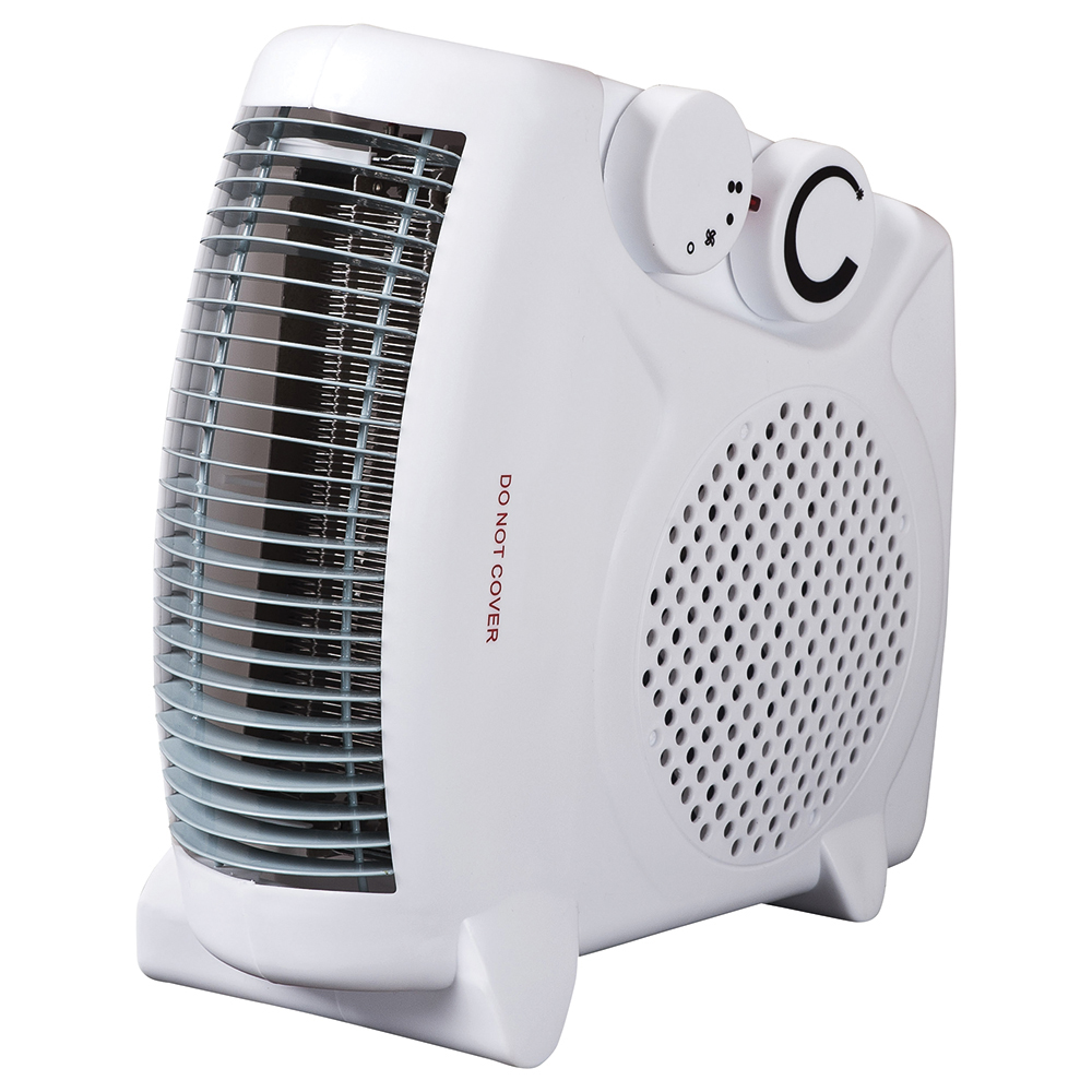 Business Fan Heater 2 Heat Settings plus Cool Setting 2000w White (Pack of 1)