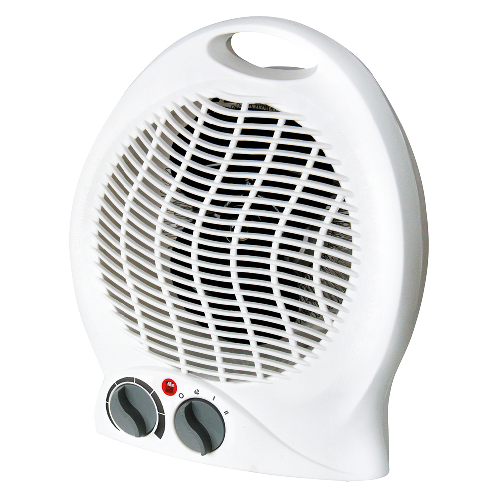 Business Fan Heater with Thermostat 2 Heat Settings White (Pack of 1)